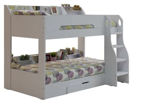 bunk beds white flair wooden bunk bed white