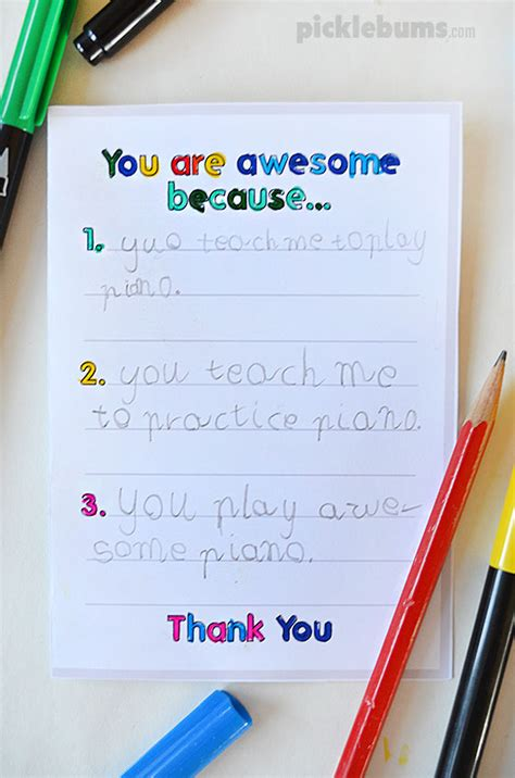 make a student card printable thank you cards to make with your
