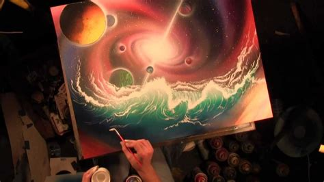 spray paint universe hydraverse waves in space universe and planets spray