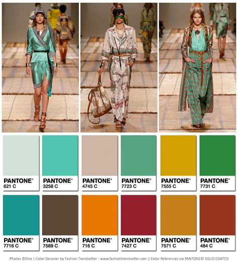colors summer 2017 etro summer 2017 collection color codes fashion