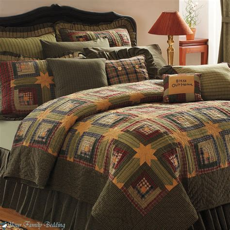 king quilt bedding sets green log cabin cal king size lodge quilt