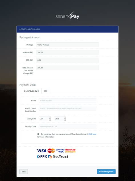 how to make payment through credit card how to make subscription payment to senangpay senangpay