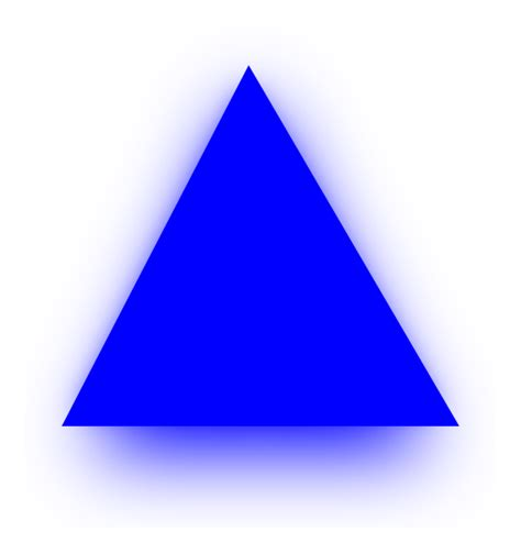 triangle blue blue triangle clip at clker vector clip
