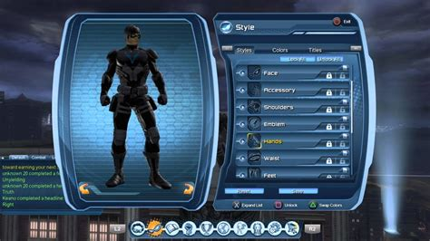 nightwing hairstyle dcuo young justice nightwing style youtube