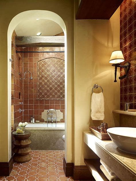 mexican tile bathroom designs 20 interiors that embrace the warm rustic of