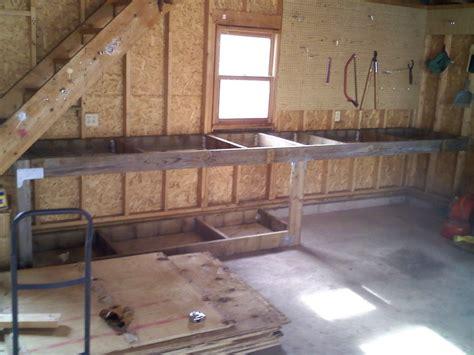 garage bench designs garage workbench home design by larizza