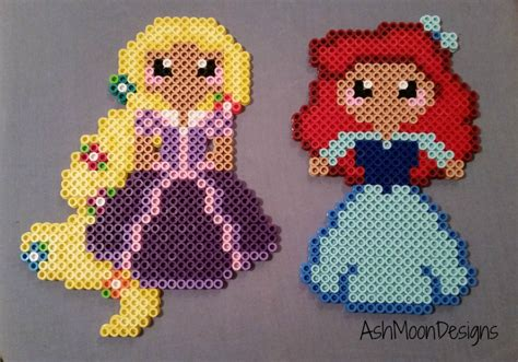 perler disney disney princess perler bead figures by ashmoondesigns on etsy