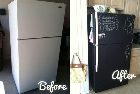 chalkboard paint in fridge diy chalkboard painting a fridge