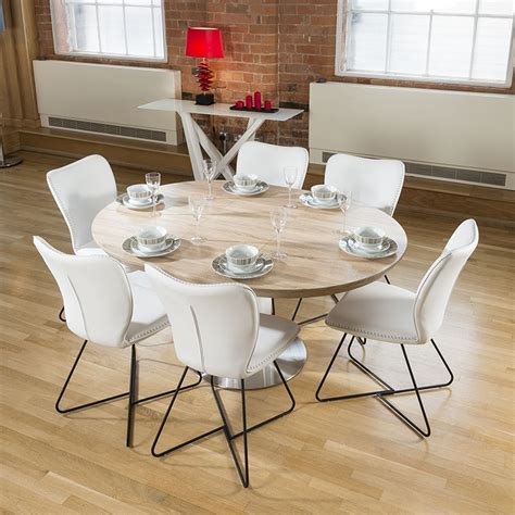 White Oval Dining Table Uk by Modern Dining Set Oval Extending Table 6 High White