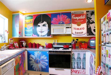 decoupage poster hometalk decoupage kitchen cabinets with andy warhol posters