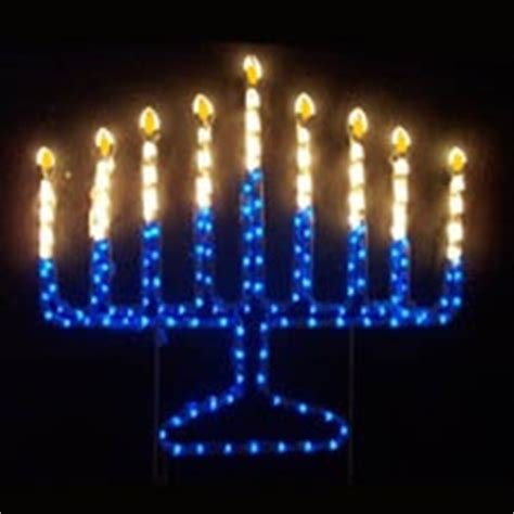 hanukkah outdoor decorations menorah yard and on