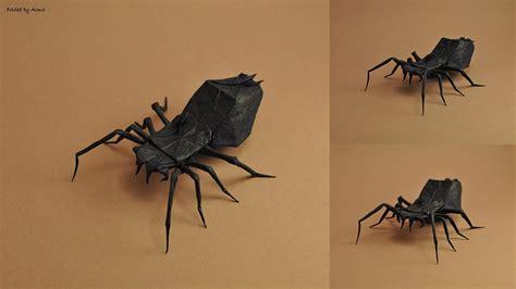 origami tarantula 30 frighteningly fantastic origami models