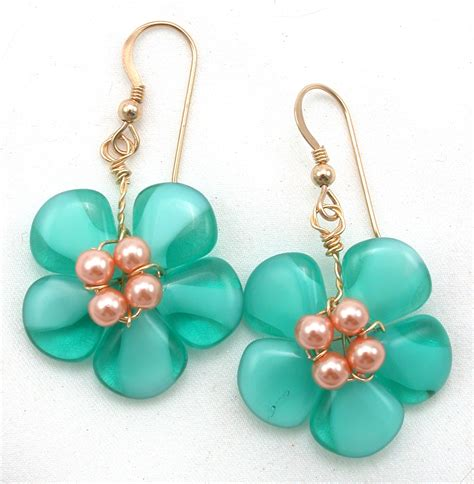 diy beaded earrings tutorial diy beaded flower shape jewelry tutorials