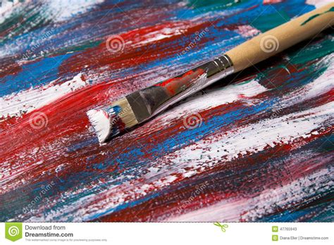 acrylic painting no brush strokes brush on acrylic paint background with blue and