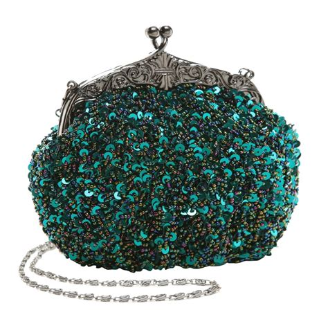 beaded bags embroidered seed beaded sequined fashion evening bag