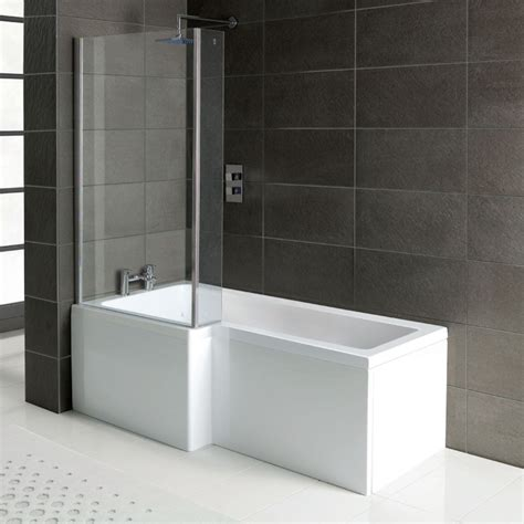 bath shower panels l shaped shower bath 1700 x 850 mm with screen and panel