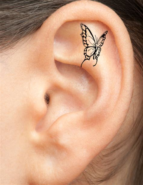 ear tattoos for women free design ideas