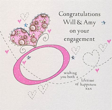 how to make engagement cards personalised handmade engagement card by eggbert