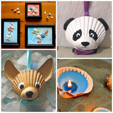kid ornaments craft ideas adorable seashell craft ideas for crafty morning