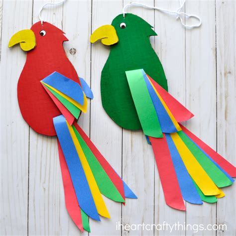 how to make craft for colorful and twirling parrot craft i crafty things