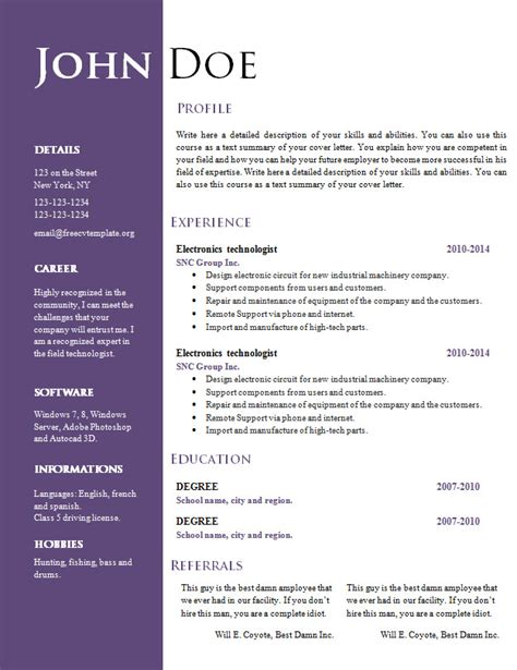 free creative resume cv template 547 to 553 free cv