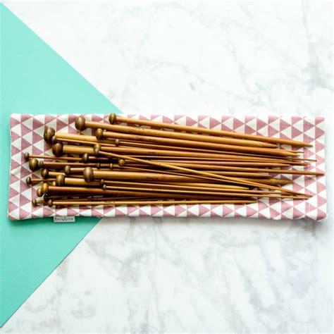 bamboo knitting needle set set of bamboo knitting needles by berylune
