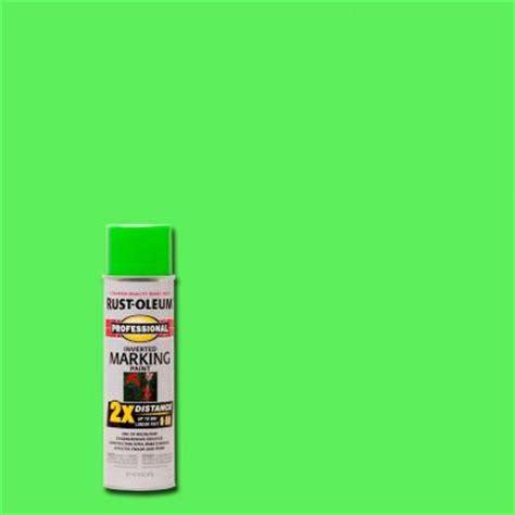 home depot neon paint rust oleum professional 15 oz 2x fluorescent green