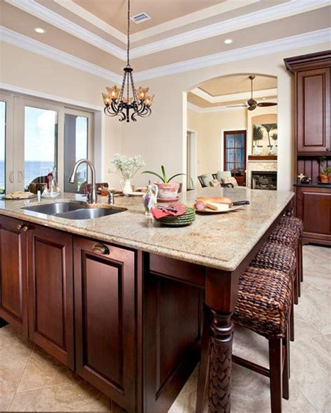 kitchen islands with sink and seating wood bar stools with wicker seats woodworking projects