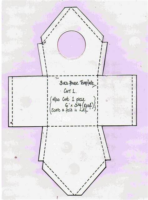 paper bird craft template best photos of paper birdhouse template free printable