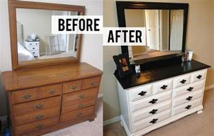 painting bedroom furniture before and after before and after diy bedroom dresser makeover with 10