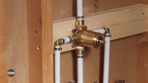 install plumbing diy how to install copper to pex shower and bath plumbing