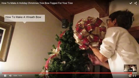 how to make tree bows how to make a tree bow topper