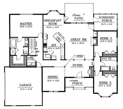 traditional style house plan 3 beds 2 baths 2200 sq ft
