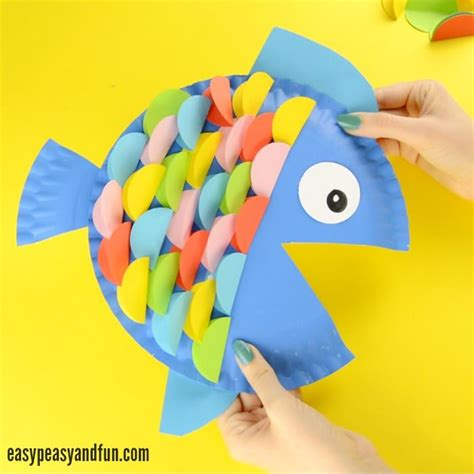paper plate fish craft paper plate fish craft rainbow paper circles easy