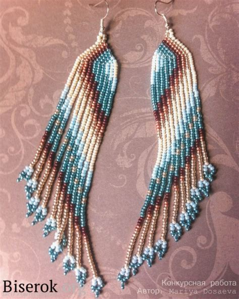 how to make american jewelry diagonally patterned american style beaded earrings