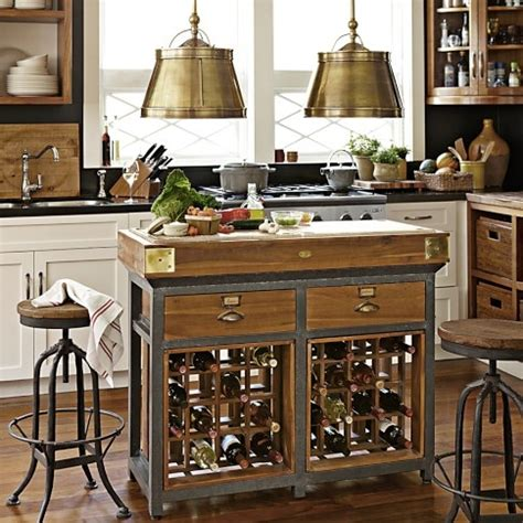 Mobile Kitchen Island Butcher Block 55