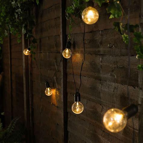 b b landscape lighting outdoor battery festoon lights 10 warm white leds clear bulbs black cable 4 5m