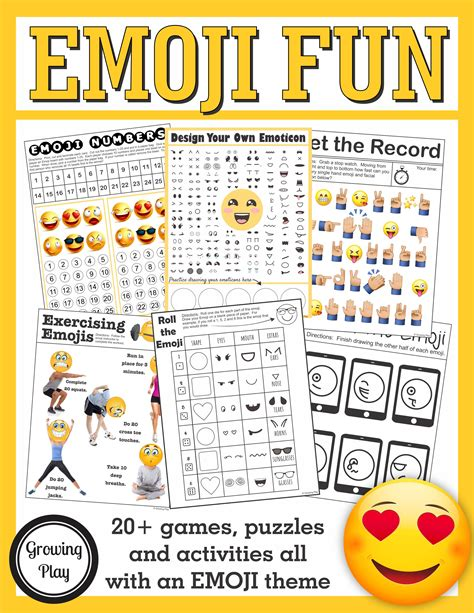 and activities emoji and puzzles packet emoji birthday