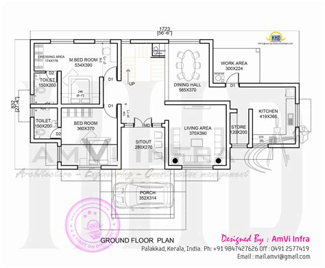 ground floor plan march 2015 home kerala plans