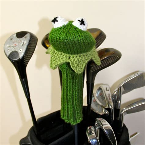 knitted headcovers for golf clubs patterns knit pattern kermit the frog muppet golf club cover pdf