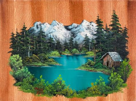 bob ross northern lights painting for sale fishermans cabin 86020 painting bob ross fishermans