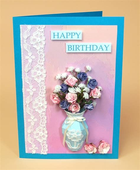 card craft card templates for 3d vase greeting card