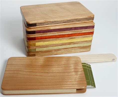 how to make a wood card holder friday favorite wooden business card holders yael steren