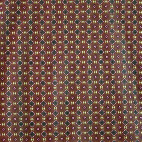 Raschel Knit Print Fabric Small Squares Brown By