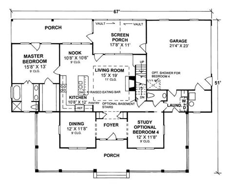 floor plans for country homes 4 bedrm 1980 sq ft country house plan 178 1080