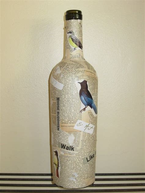 decoupage wine bottles message in a bottle decoupage wine bottles upcycled by