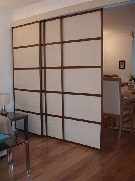 sliding room dividers easy diy room divider to create a multipurpose room