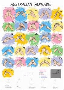 alphabet australia australian fingerspelling alphabet poster http www