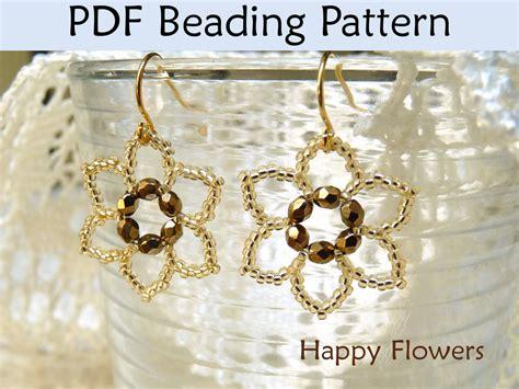 beaded flower earring patterns beading tutorial pattern earrings flower jewelry