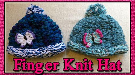 how do i finger knit how to finger knit a hat